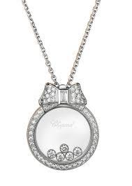 chopard happy diamonds icons round pendants