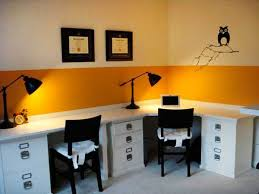 Image Grey You Will Love The Transformation Changing Your Office Interior Into Room Filled With Positive Energy And Beautiful Color Lushome 30 Office Design Ideas Bringing Optimism With Orange Color