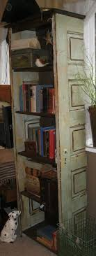 bookshelf made from old doors