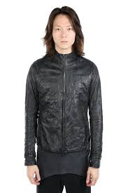 layer 0 layer 0 men zip up leather jacket