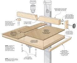 easy to build drill press table none none