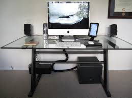 modern computer desk with cable management