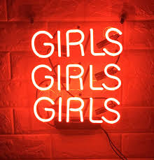 Neon Signs Girl Girls Girls Girls Neon Signs Girl Neon Wall Signs Neon Room Lights Love Neon Sign Art Neon Sign Neon Lamp Words Quote Wall Decor