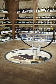 wine storage glass door wine cellar bodne spiral round design