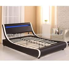 China popular bed frame, with LED lighting, best price from ...