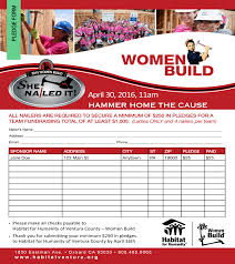 She Nailed It! | Pledge Form - Habitat For Humanity Of Ventura County