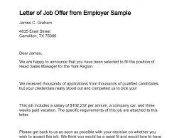 Formal Job Offer Template Letter Of Job Offer From Employer Sample Job Offer Letter