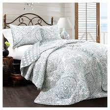 Blue Aubree Quilt Set (King) : Target & Blue Aubree Quilt Set - Lush Decor Adamdwight.com