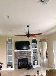 A living room's original alcove ceiling.