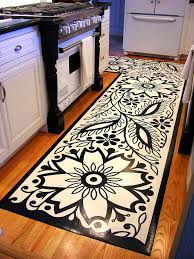 Kitchen Carpet Flooring Similiar Black And White Kitchen Floor Rug Keywords