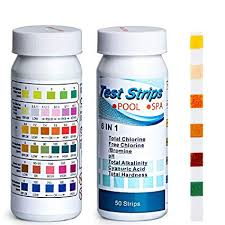 Hth 6 Way Test Strips Color Chart Pool And Spa Test Strips For Hot Tubs 6 Way Swimming Pool Spa Water Chemistry Test Strip 100 Count 2 Pack Ph Total Chlorine Free