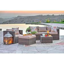 weather dark brown wicker patio seating