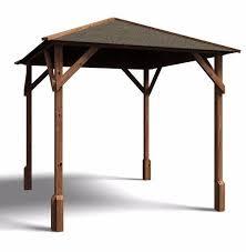 garden gazebo pressure treated wood hot tub shelter roof felt utopia 200 2mx2m for