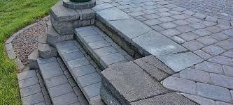 how to build paver patio steps