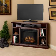 corner tv stands with electric fireplace corner fireplace tv stand