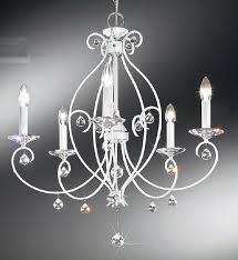 carat white 5 light chandelier kolarz lighting