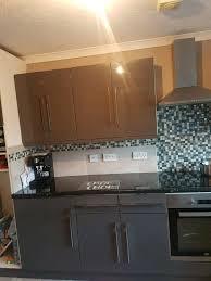 grey gloss kitchen cupboard doors
