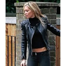 abbey clancy las black leather jacket