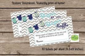 Print Raffle Tickets At Home Baby Shower Diaper Raffle Tickets With Burlap And Chevron Flags Vintage Printable Instant Download