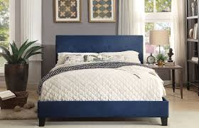blue platform bed. Wonderful Blue Brice Blue King Upholstered Platform Bed Media Gallery 1 Inside O