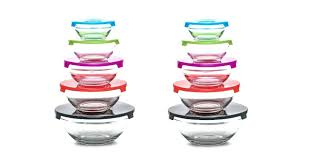glass prep bowl the bright and cheery colors will add a nice touch of color to
