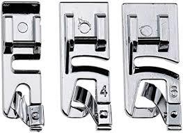 3Pcs Narrow Rolled Hem Sewing Machine Presser ... - Amazon.com
