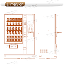 Coffee Vending Machine Dimensions Beauteous Combo Snack Drink Multin Functional Coffee Vending Machine Buy
