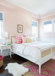 Little Girl's pink and white room and #serenaandlily Harbour Cane Bed. via  @studio_mcgee