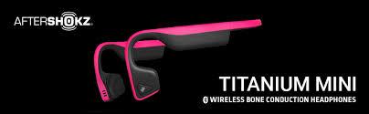 Aftershokz Titanium Mini Wireless Bone Conduction Bluetooth Headphones Shorter Headband Size For Smaller Fit Open Ear Design Slate Grey As600msg