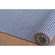 hand woven flatweave 1 8 x 10 grey navy blue striped
