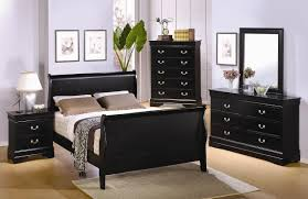 Sleigh Bedroom Furniture Furniture Madera Queen Sleigh Bed In Ebony Black 54552 Full 54550