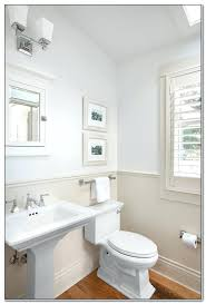 cottage full bathroom with flush glass panel in brookline ma modern kohler memoirs pedestal sink throughout 16