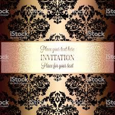 Barokke Achtergrond Met Antiek Luxe Zwart En Goud Vintage Frame