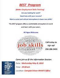 List Of Skills For Employment Best Better Employment Skills Training Information Session