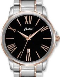 2 tone black dial a4467tr blk belair men dress wrist watch click