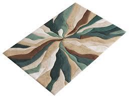 infinite splinter rug teal 80x150 cm