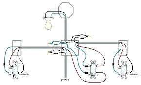 single light switch wiring diagram power into 3 way power at switch