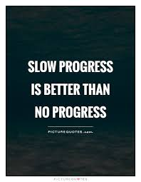 Progress Quotes Cool Slow Progress Is Better Than No Progress Picture Quotes