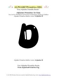 alphabetprintables letter d bubble
