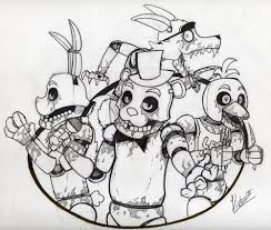 five nights at freddy s coloring pages black and white coloring pages now