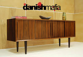 MID CENTURY DANISH MODERN BOW FRONT ROSEWOOD CREDENZA 4 ...  L
