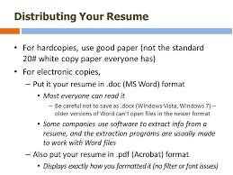 33 Distributing Your Resume ...