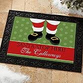 christmas door mats outdoor. Personalized Christmas Doormats - Santa Stop Here 9248 Door Mats Outdoor L
