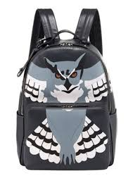 valentino leather owl backpack