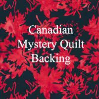 Canada Mystery Quilt - Hamels Fabrics & Quilting & Canadian Mystery Quilt Backing Fabric Adamdwight.com