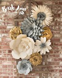 3d paper flower wall art