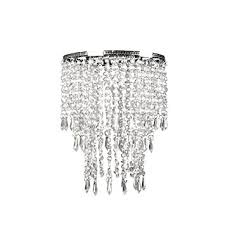 shade chandelier lighting. Amazon.com: Tadpoles Faux Crystal Triple Layer Dangling Shade, Chandelier Style: Home \u0026 Kitchen Shade Lighting -
