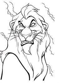 The Lion King Scar Evil Plan Coloring Page Green God Coloring