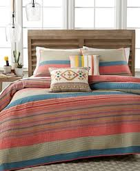CLOSEOUT! Martha Stewart Collection 100% Cotton Western Horizon ... & Martha Stewart Collection 100% Cotton Western Horizon Twin Quilt, Created  for Macy's Adamdwight.com