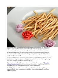 Lihat juga resep stik bawang renyah enak lainnya. Resep Stik Bawang Keju
